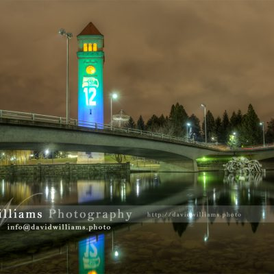 Seattle Seahawks Clock Tower Football Spokane Washington