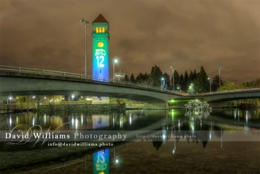 Seattle Seahawks Clock Tower Football Spokane Washington