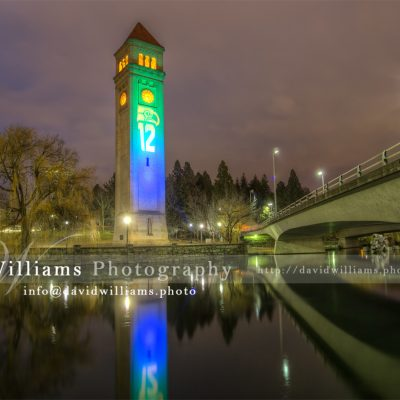 Seattle Seahawks Clock Tower Part II Spokane Washington