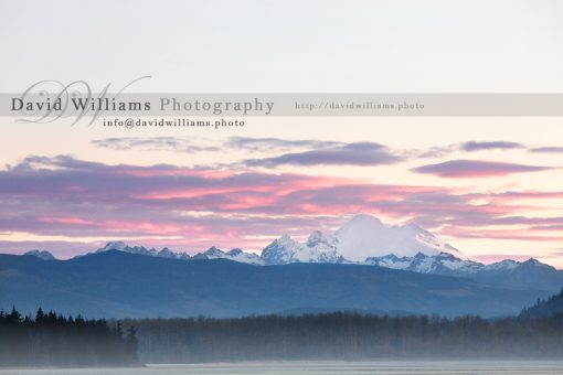 Photo, Photography, Image, Print, Canvas, Metal, Sunset, Sunrise, Mt Baker, Fog, Mist