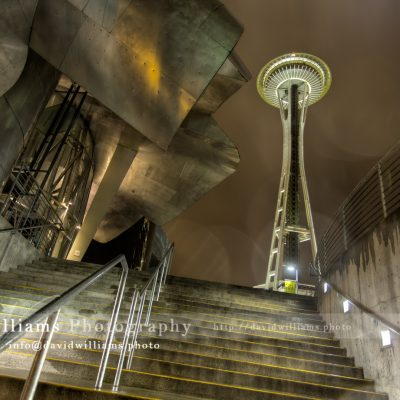 Photo, Photography, Image, Landscape, Print, Canvas, Metal, Seattle, Space Needle, EMP