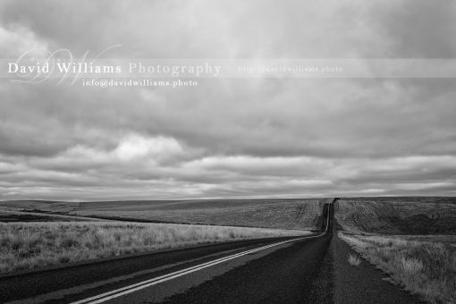 Photo, Photography, Image, Print, Canvas, Metal, Black and White, B&W, Road, Clouds, Landscape