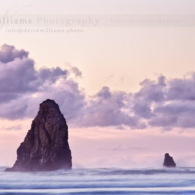 Part of Haystack Rock in Oregon, here are two of the outcroppings.