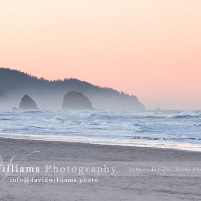 A beautiful beach sunset somewhere off the coast of Oregon.