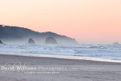 A beautiful beach sunset somewhere off the coast of Oregon.